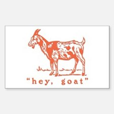 Hey, Goat Rectangle Decal