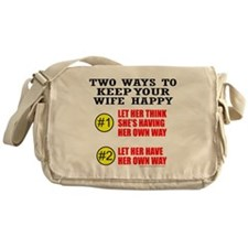 KEEP YOUR WIFE HAPPY Messenger Bag