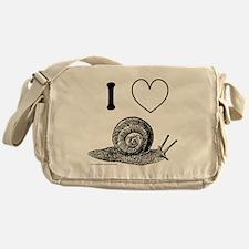 I HEART SNAILS Messenger Bag