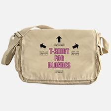 FOR BLONDES Messenger Bag