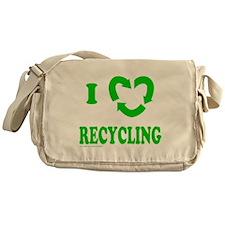 I LOVE RECYCLING Messenger Bag
