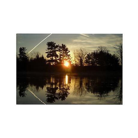 Mississippi River Mirror Rectangle Magnet (10 pack