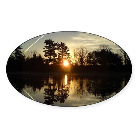 Mississippi River Mirror Sticker (Oval)
