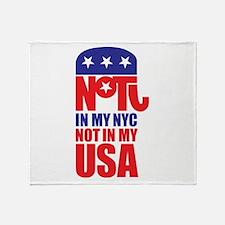 Anti Republican Throw Blanket