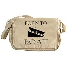 BORN TO BOAT Messenger Bag