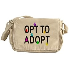 OPT TO ADOPT A CAT Messenger Bag