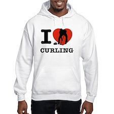 I love Curling Hoodie Sweatshirt