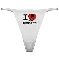 I love Curling Classic Thong