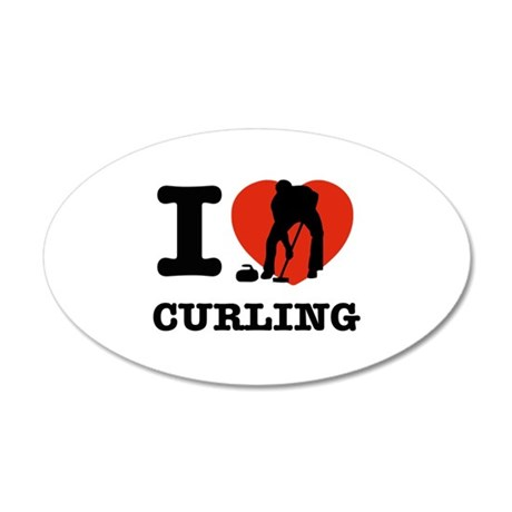 I love Curling 22x14 Oval Wall Peel
