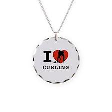 I love Curling Necklace