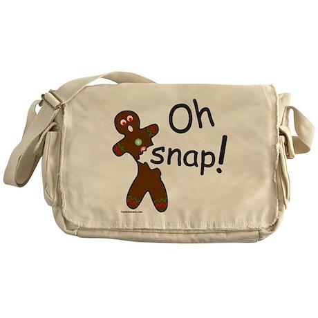 GINGERBREAD MAN OH SNAP Messenger Bag