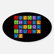 Rainbow ABC's Sticker (Oval)