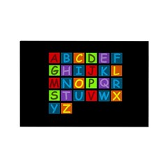Rainbow ABC's Rectangle Magnet (100 pack)