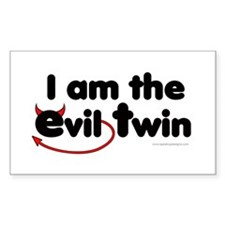 I am the Evil Twin Rectangle Decal