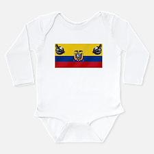 Ecuador Soccer Flag Long Sleeve Infant Bodysuit