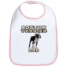 Boston Terrier Dad Bib