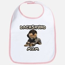 Wirehaired Dachshund Mom Bib