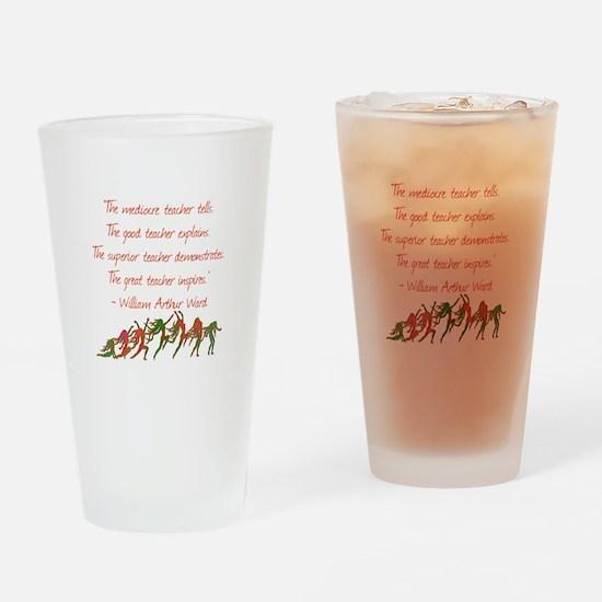 A Teacher Inspires Drinking Glass
