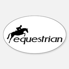 hunter/jumper equestrian Oval Decal