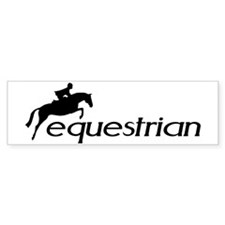 hunter/jumper equestrian Bumper Car Sticker