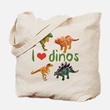 I Love Dinos Tote Bag