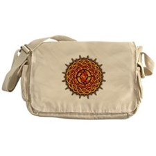 Celtic Knotwork Sun Messenger Bag