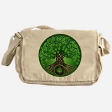 Circle Celtic Tree of Life Messenger Bag