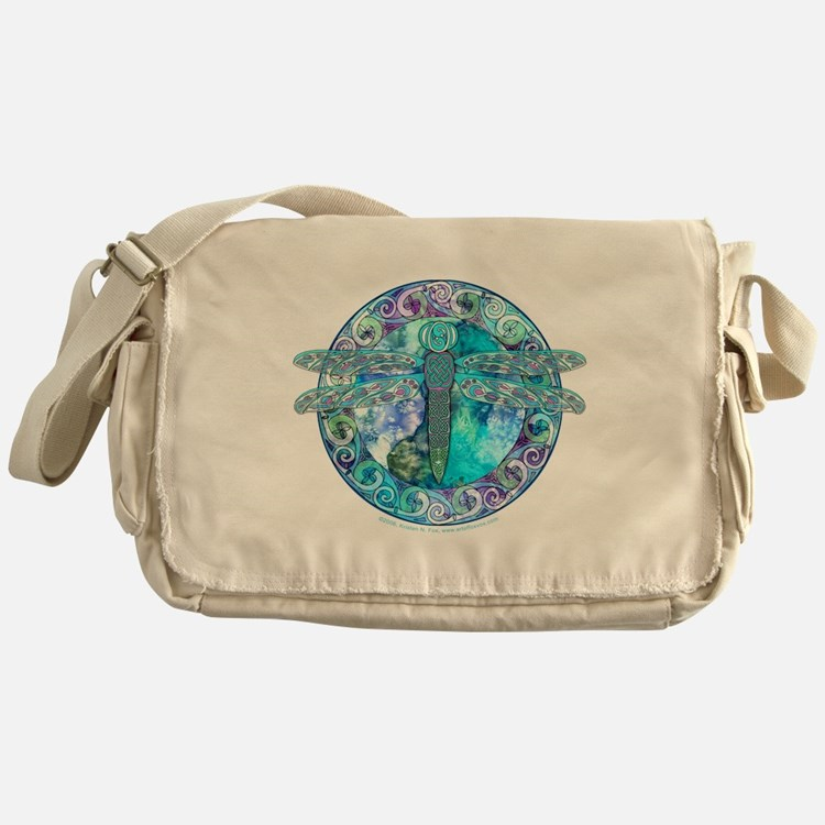Cool Celtic Dragonfly Messenger Bag
