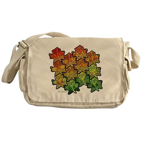 Celtic Leaf Tesselation Messenger Bag