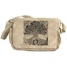 Celtic Tree of Life Ink Messenger Bag