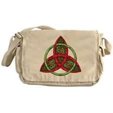 Celtic Holiday Knot Messenger Bag