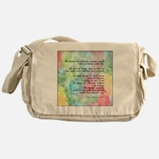 Inspirational Goethe Quote Messenger Bag