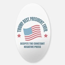 Trump Best Pres Sticker (Oval)