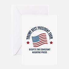 Trump Best Pres Greeting Card
