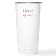 I Love My Afghan Hound Travel Mug