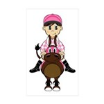 Cute Jockey and Horse Sticker (10 Pk)