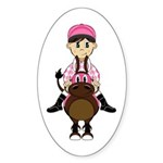 Cute Jockey and Horse Sticker