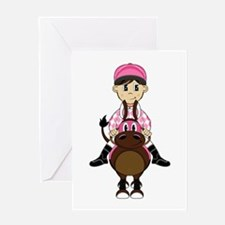Cute Jockey and Horse Greeting Card