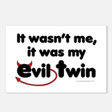 It wasn't me (Evil Twin) Postcards (Package of 8)