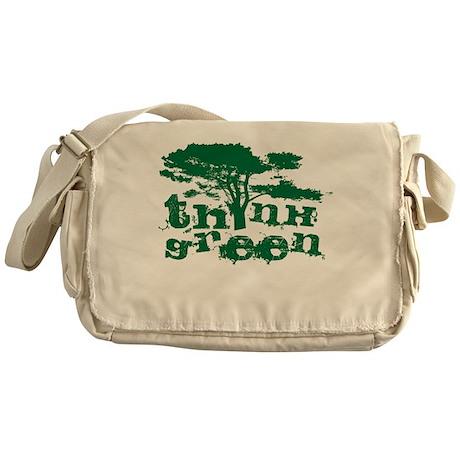 Think Green Messenger Bag