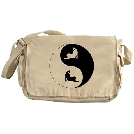 Yin Yang Cat Messenger Bag