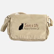 Adopt Homeless Cat Messenger Bag