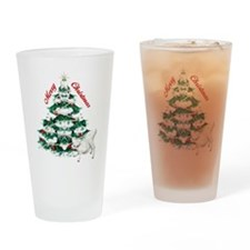 Goat-Christmas Tree and Kid Drinking Glass