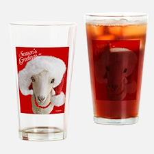 Goat Christmas-LaMancha Santa Drinking Glass