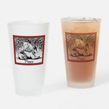 Goat Christmas Peace Drinking Glass