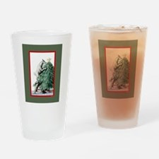Goat Christmas Pygmy in Tree Drinking Glass