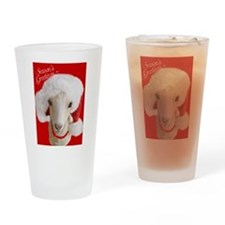 Goat- LaMancha Santa Drinking Glass