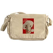 Goat- LaMancha Santa Messenger Bag