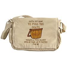 Goat Feed Bucket Goat Lady Messenger Bag