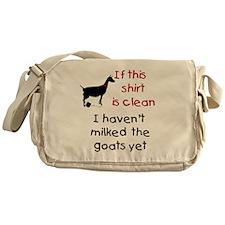 GOAT-Clean Shirt Haven't Milk Messenger Bag
